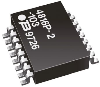 Bourns Isolated Resistor Network 1kΩ ±2% 8 Resistors, 1.28W Total, SOM package 4800P Standard SMT (5)