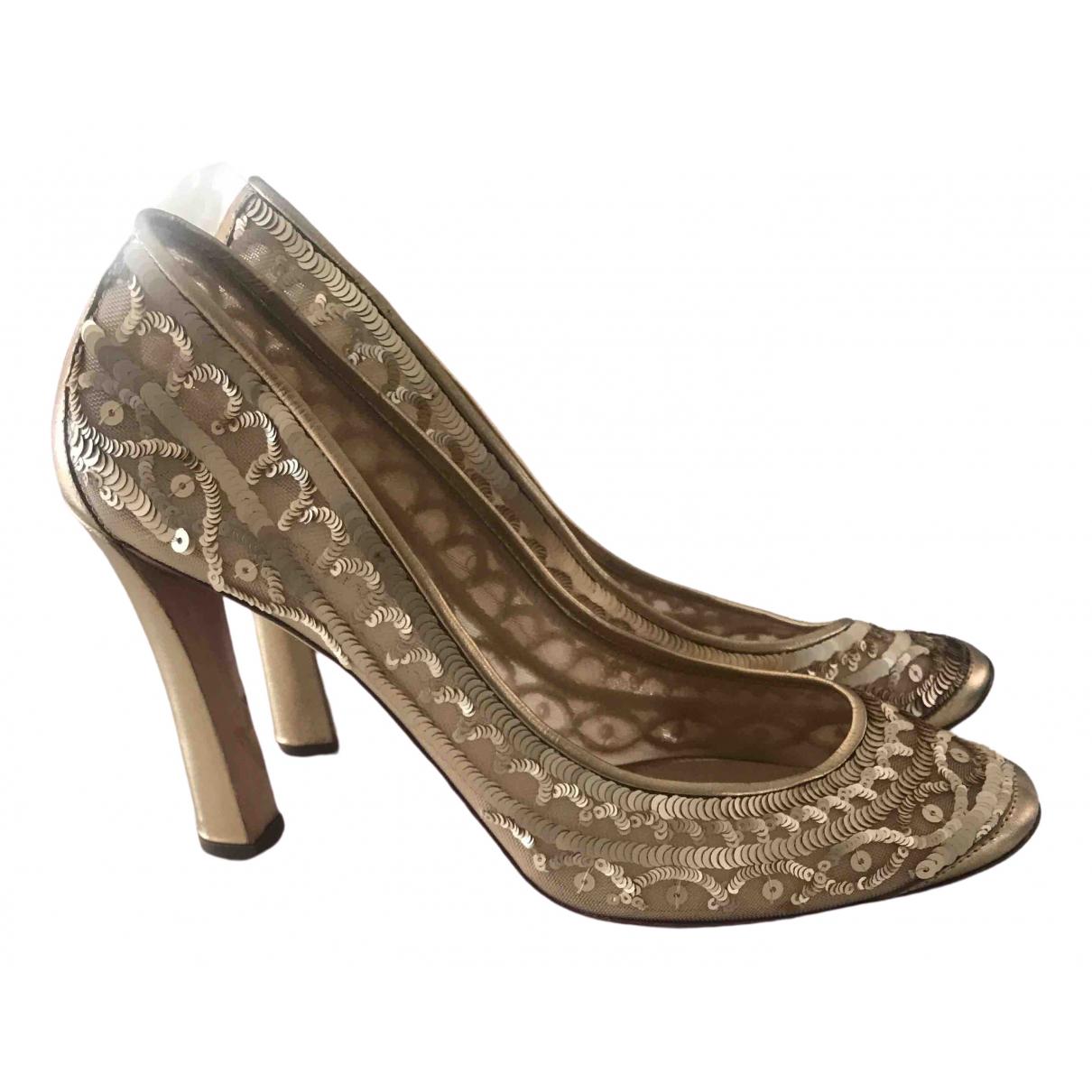 Emporio Armani - Escarpins   pour femme en a paillettes - dore