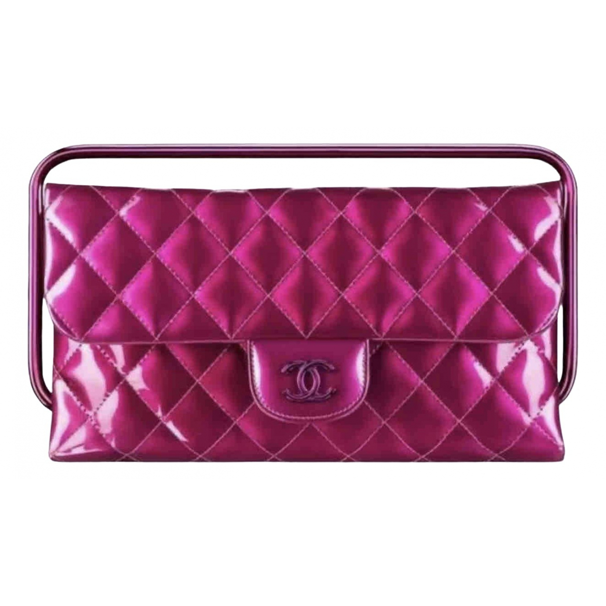 Chanel Timeless/Classique Clutch in  Rosa Lackleder