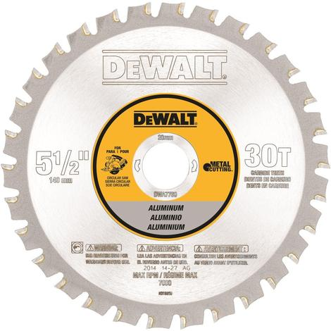 DeWalt 5-1/2# 30T Aluminum Cutting Saw Blade 20mm Arbor