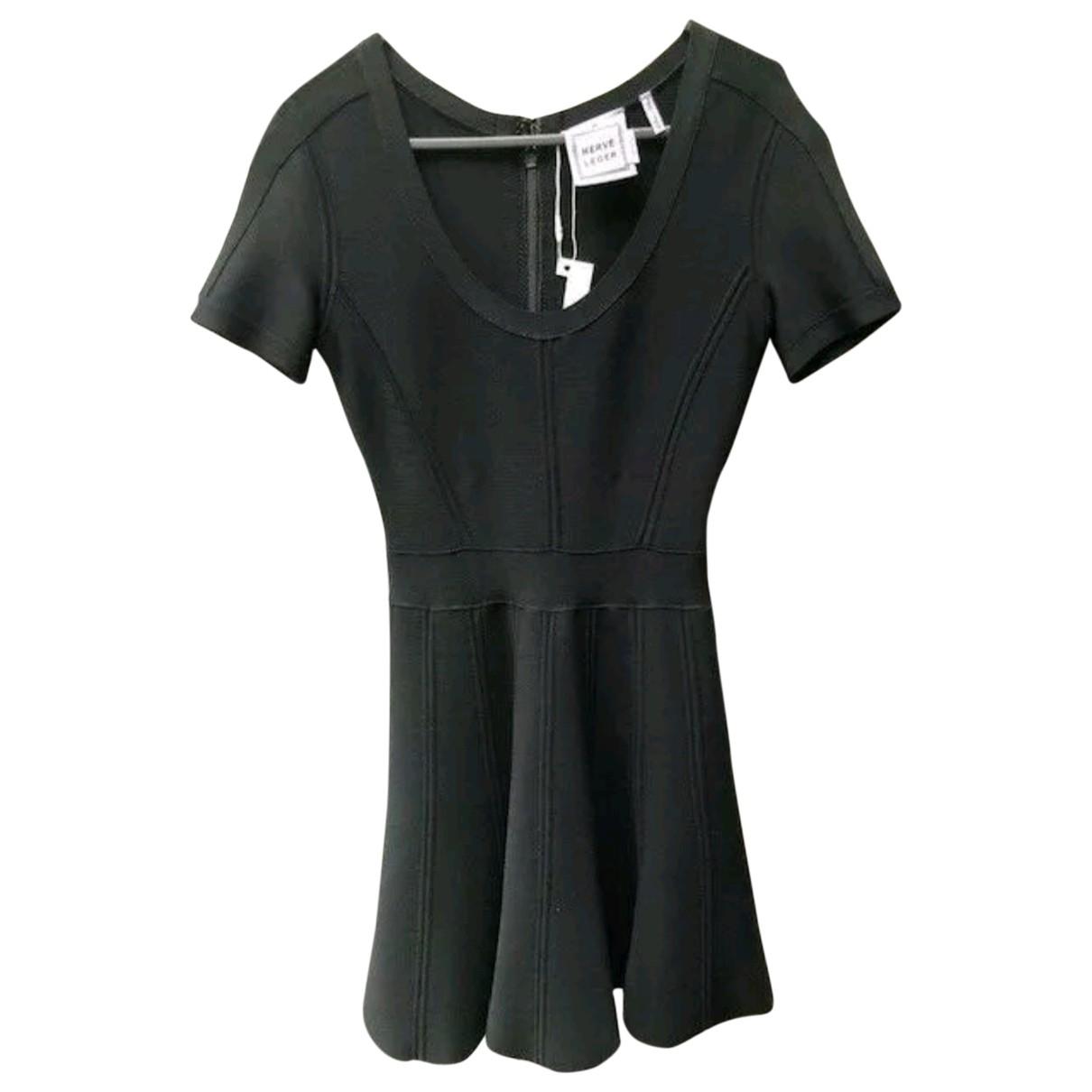 Herve Leger \N Black dress for Women 34 FR