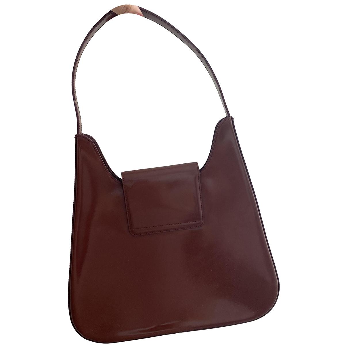 Lancel - Sac a main   pour femme en cuir verni - marron