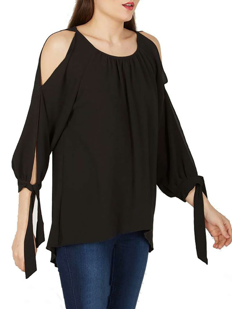 Sexy Cold Open Shoulder Blouse for Women