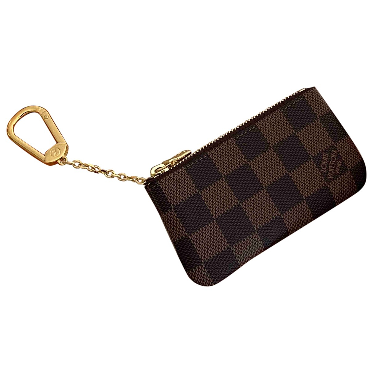 Louis Vuitton Key Pouch Brown Cloth Small bag, wallet & cases for Men \N