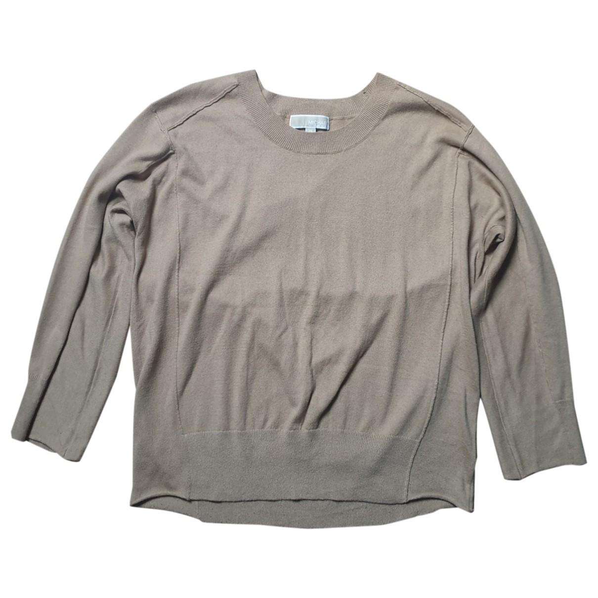 Michael Kors - Pull   pour femme en coton - beige