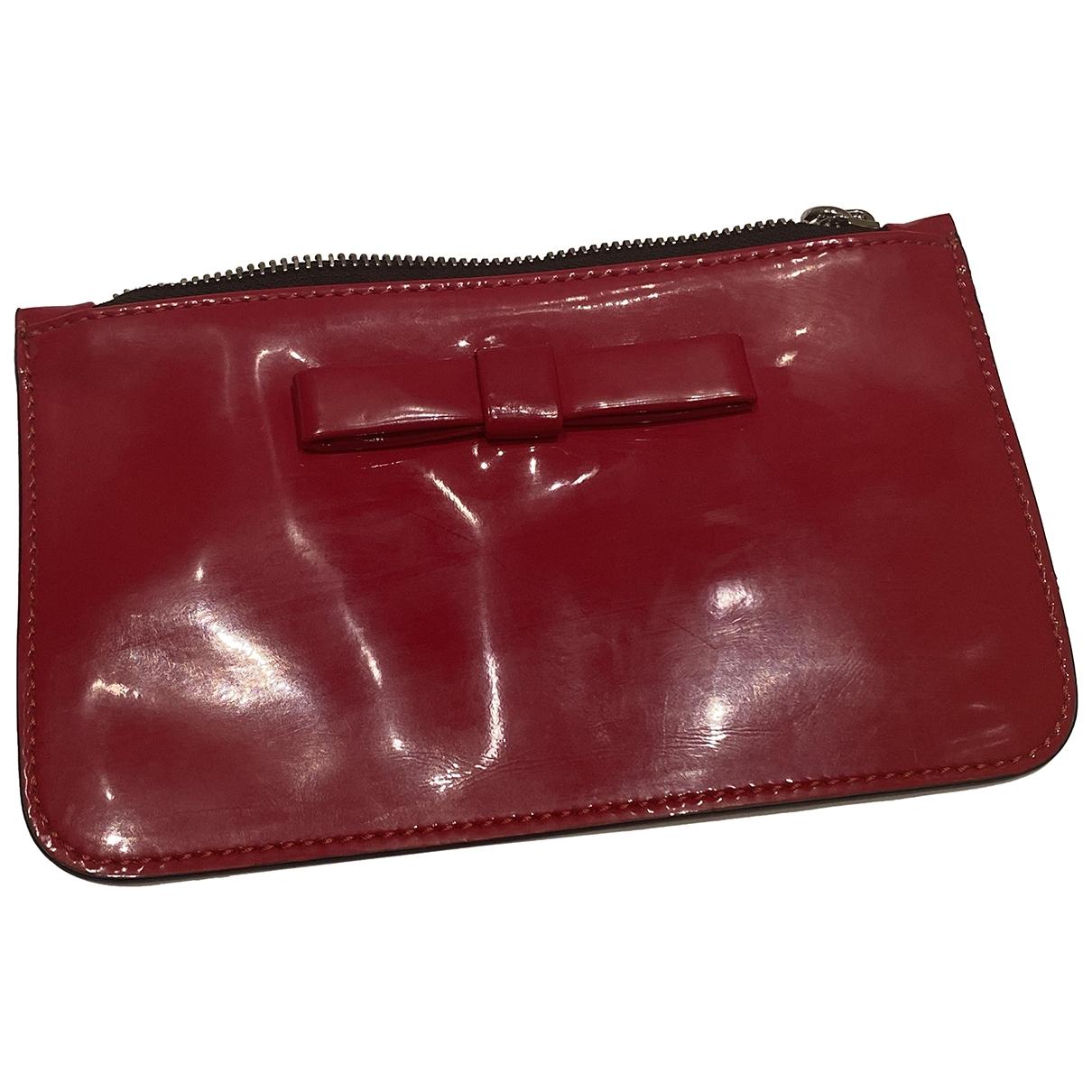 Marni - Pochette   pour femme en cuir verni - rouge