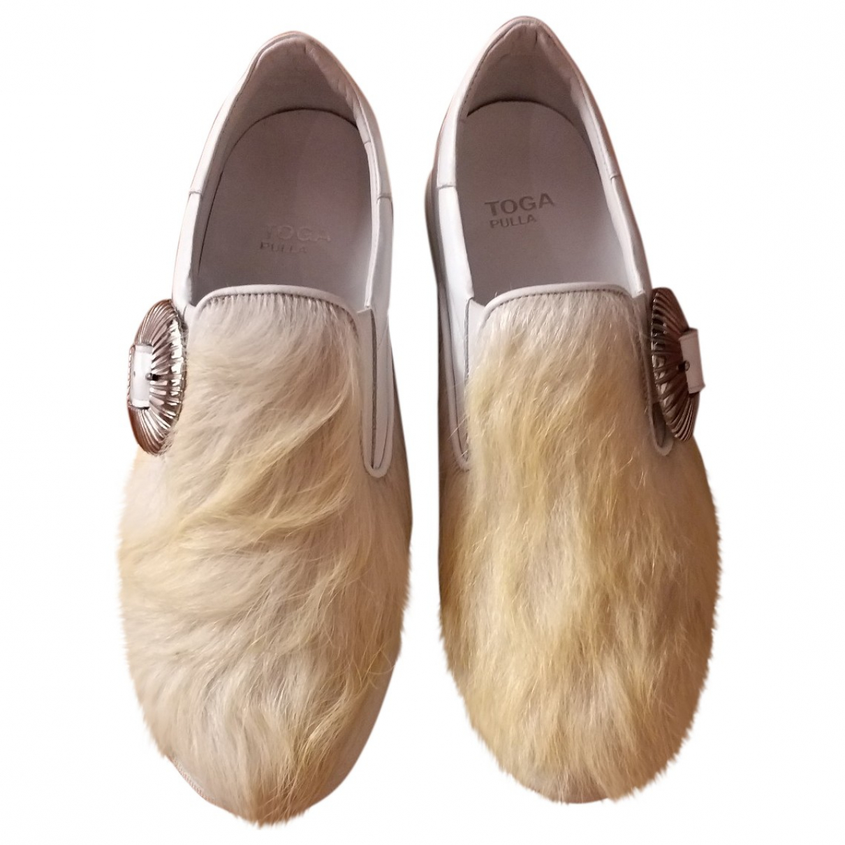 Toga Pulla - Baskets   pour femme en veau facon poulain - blanc