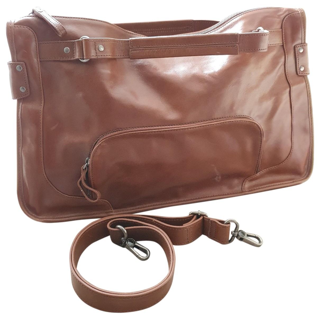 Nat & Nin \N Camel Leather handbag for Women \N
