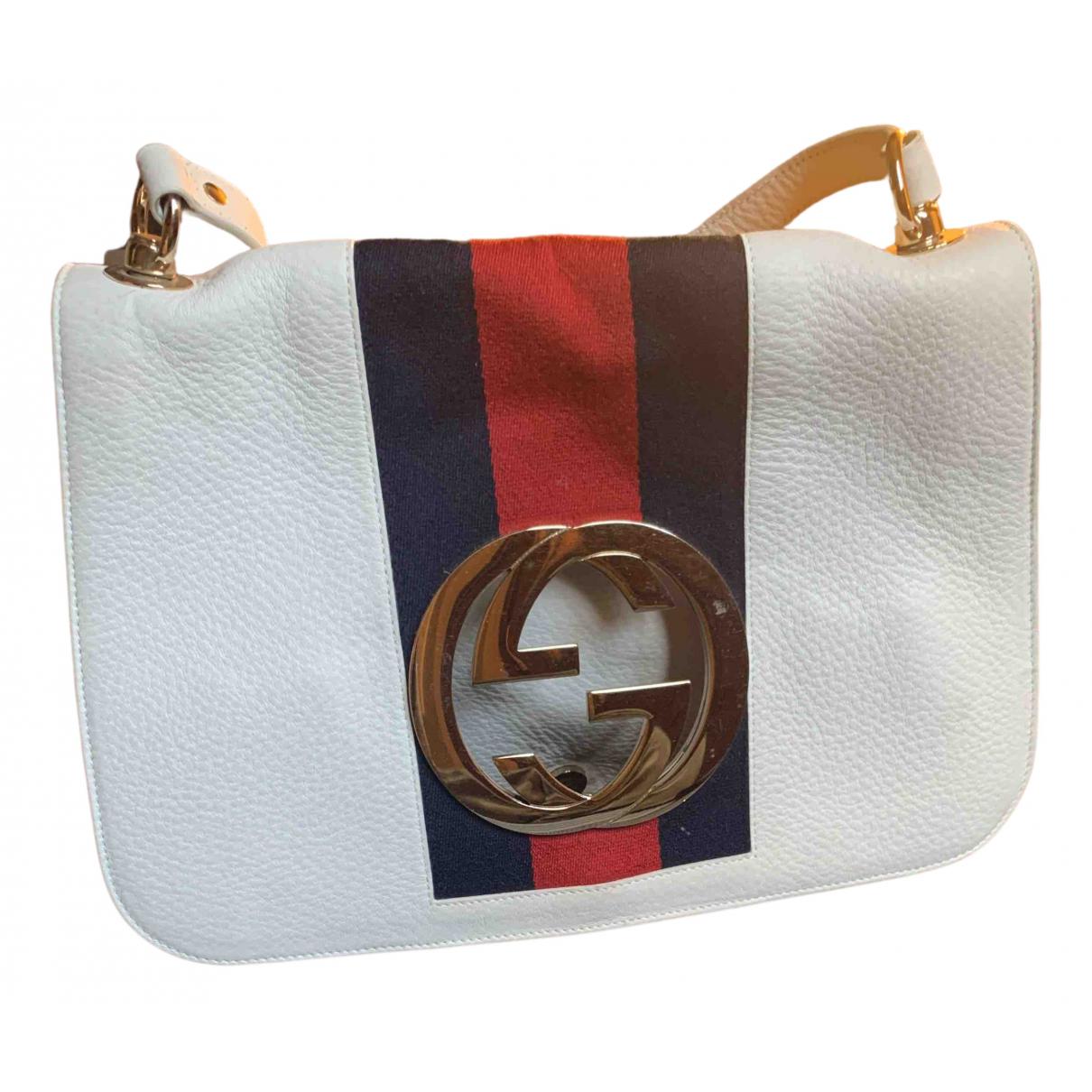 Gucci Interlocking White Leather handbag for Women N