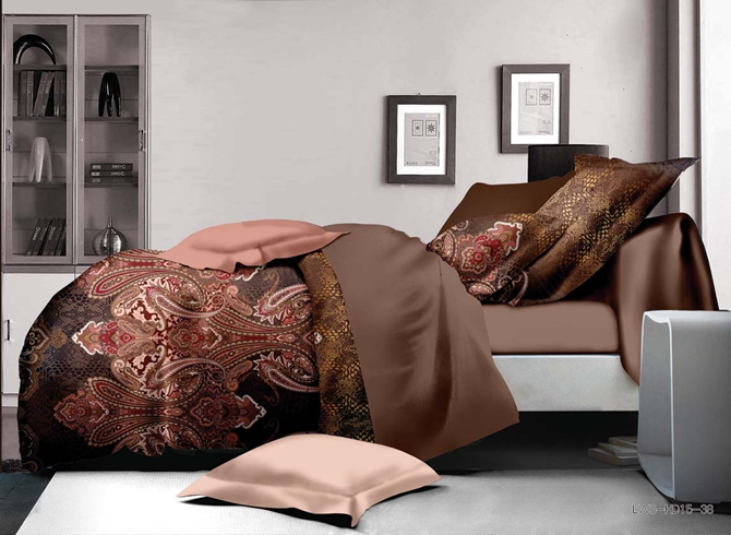 Graceful Paisley Reactive Printing Polyester 4-Piece Duvet Cover Sets