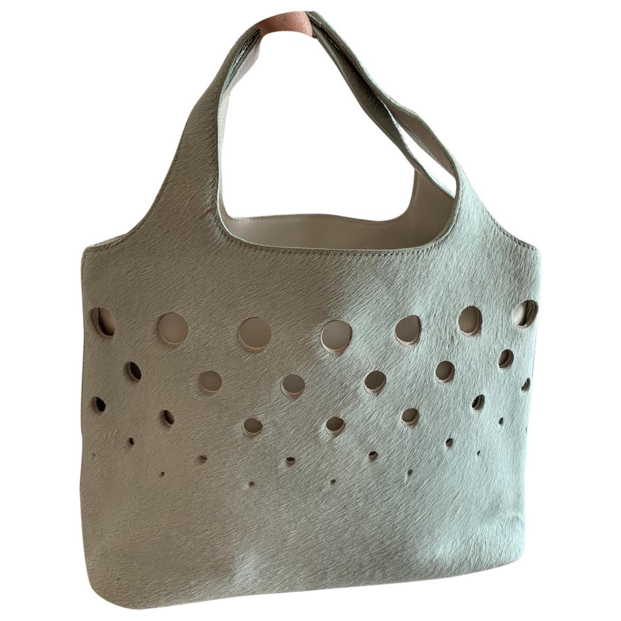 Salvatore Ferragamo \N Green Pony-style calfskin handbag for Women \N