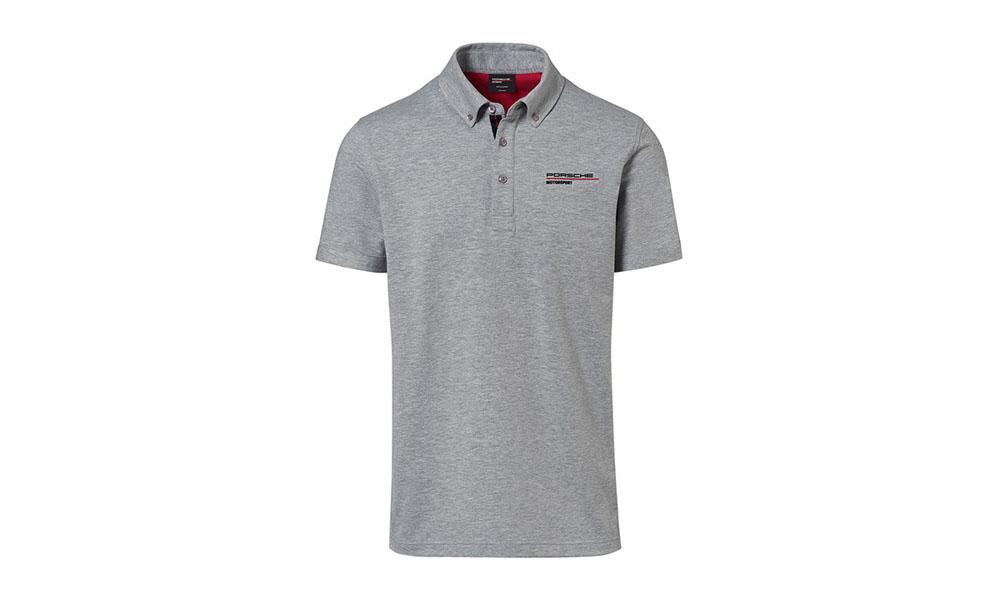 Porsche Driver Selection Motorsport Fanwear Collection Men's Grey Polo Shirt 3X-Large