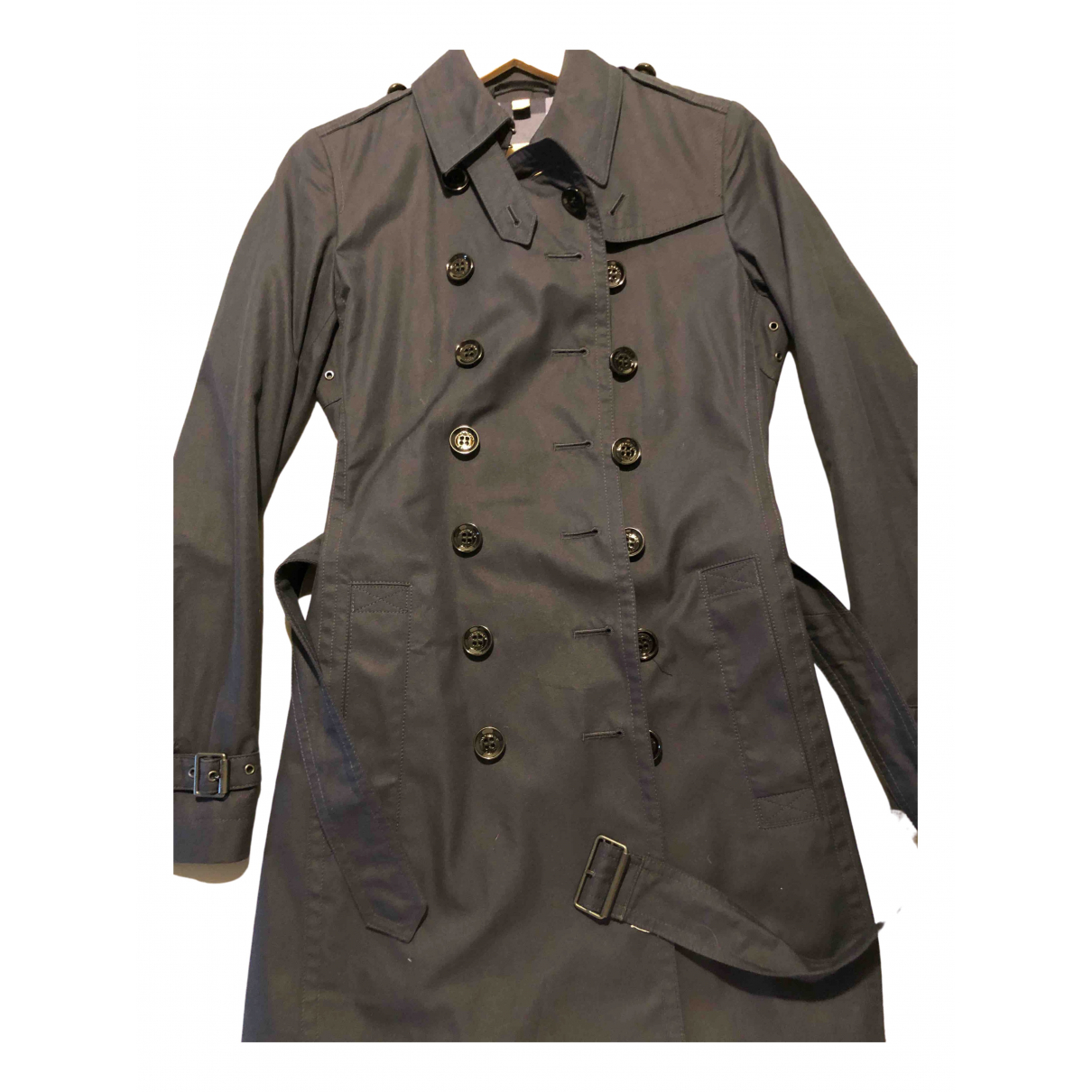 Burberry \N Blue Cotton Trench coat for Women 38 IT