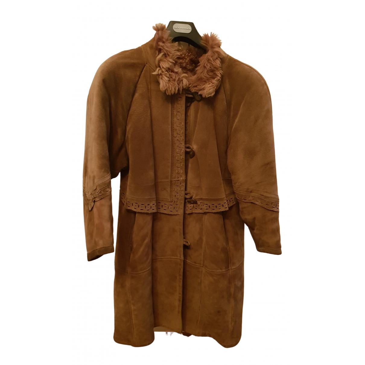 Shearling - Manteau   pour femme en mouton - marron