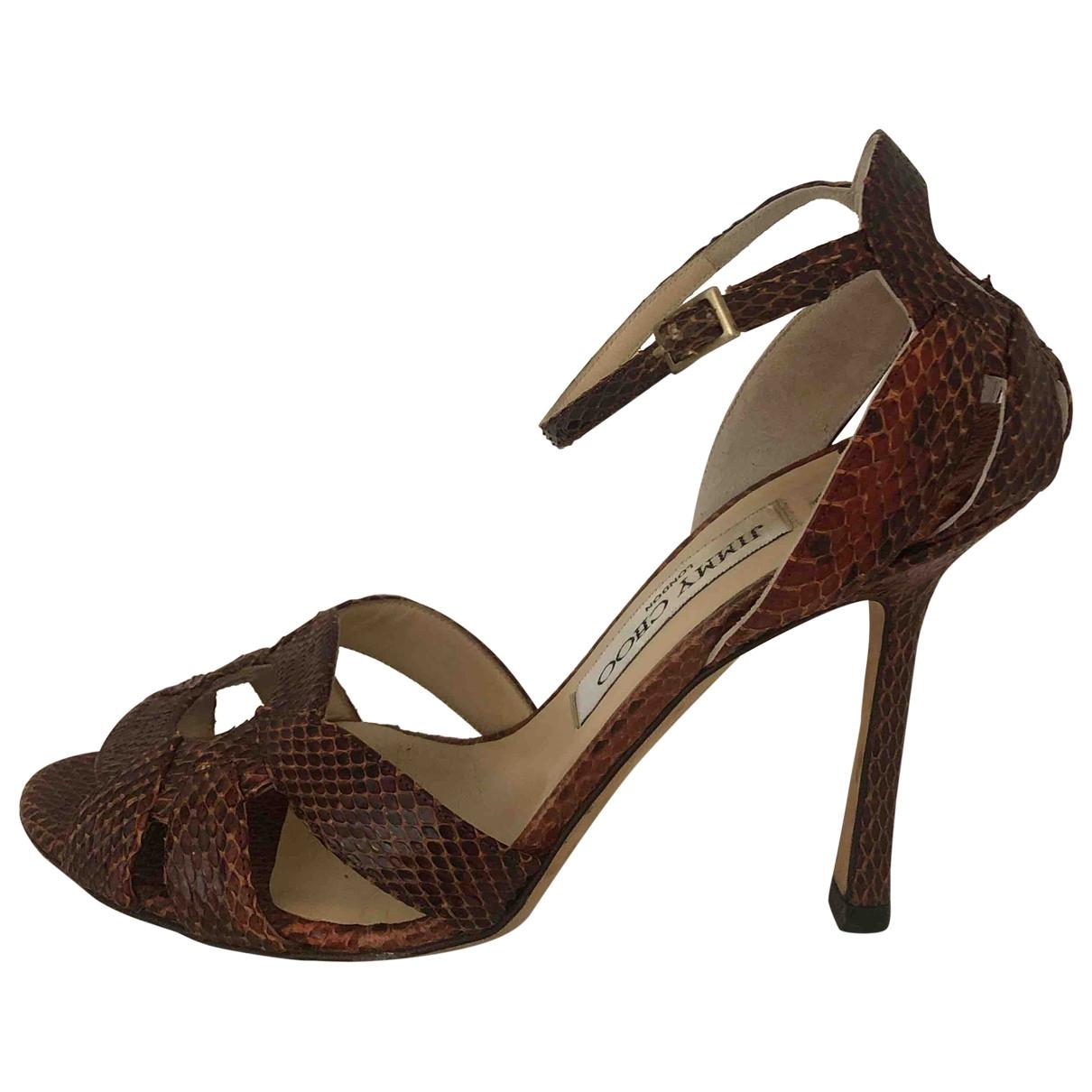 Jimmy Choo \N Camel Water snake Sandals for Women 36 IT