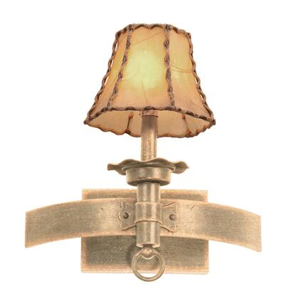 Americana 4211MG/S253 1-Light Wall Bracket in Modern Gold with Silver Organza