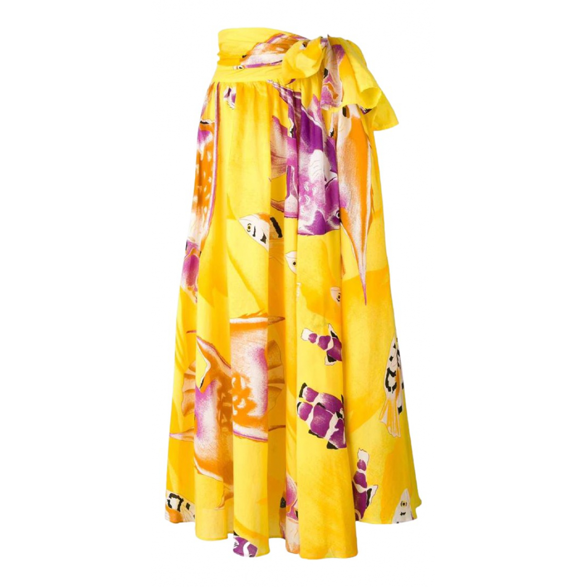 Jean-louis Scherrer \N Yellow Cotton skirt for Women S International