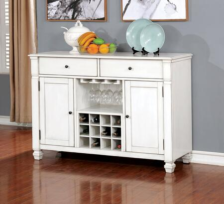 Kaliyah Collection CM3194SV Server in Antique White  Light