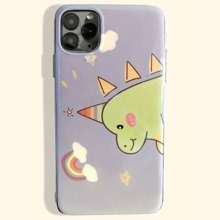 Dinosaur Cartoon Graphic Clear iPhone Case