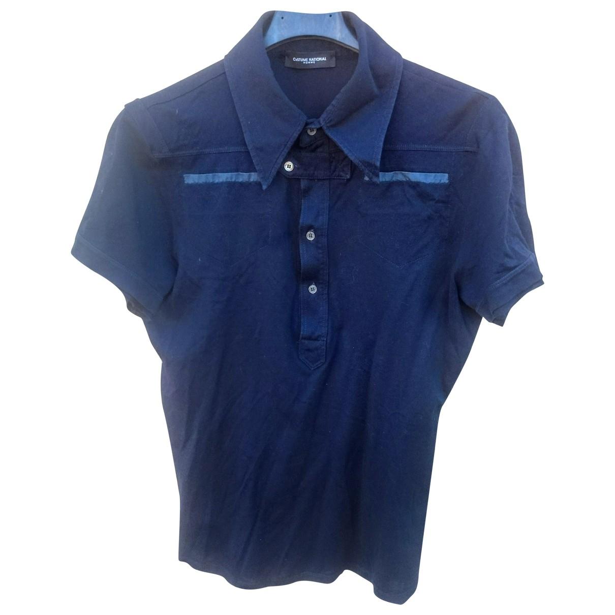 Cnc - Polos   pour homme en coton - bleu
