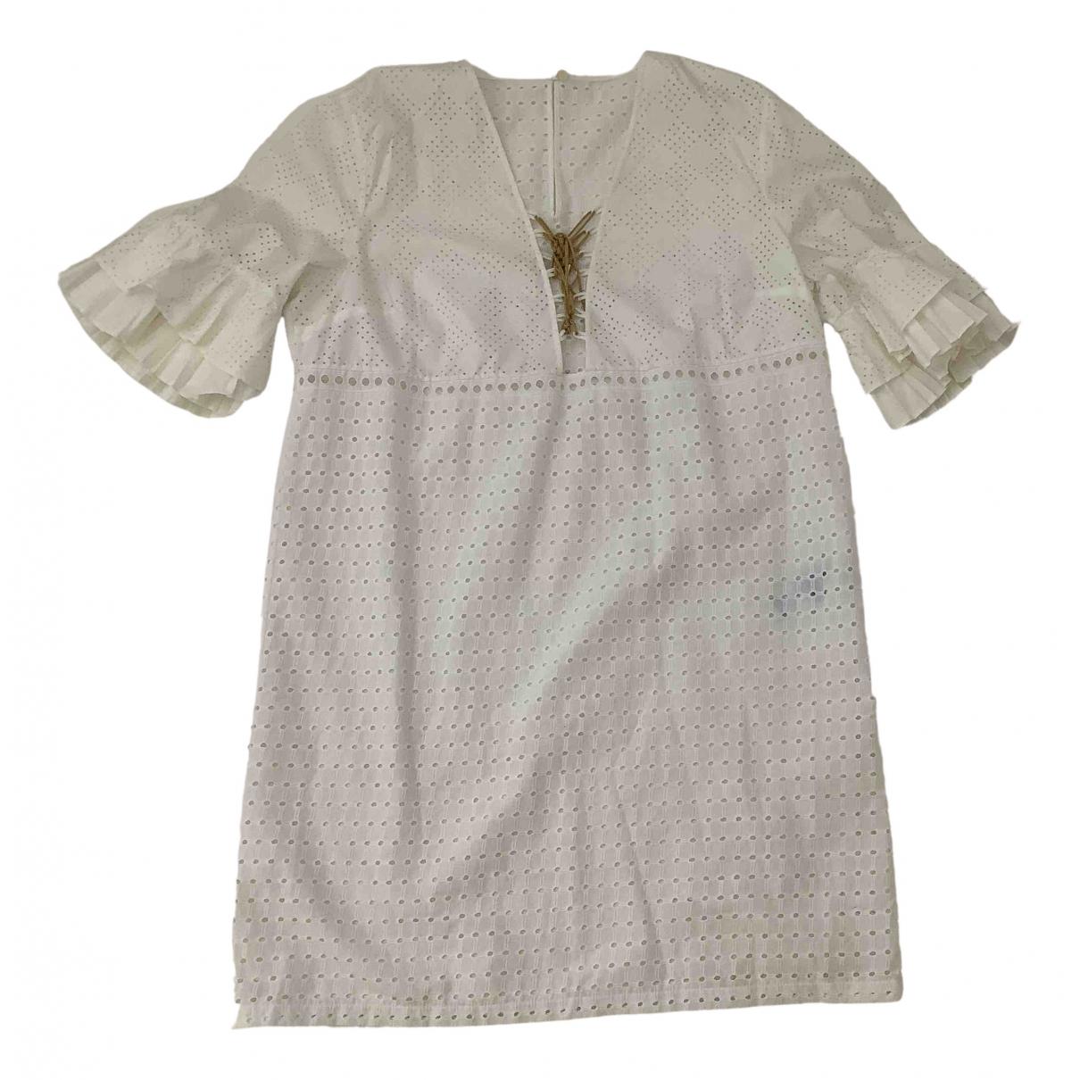 Just Cavalli - Robe   pour femme en coton - blanc