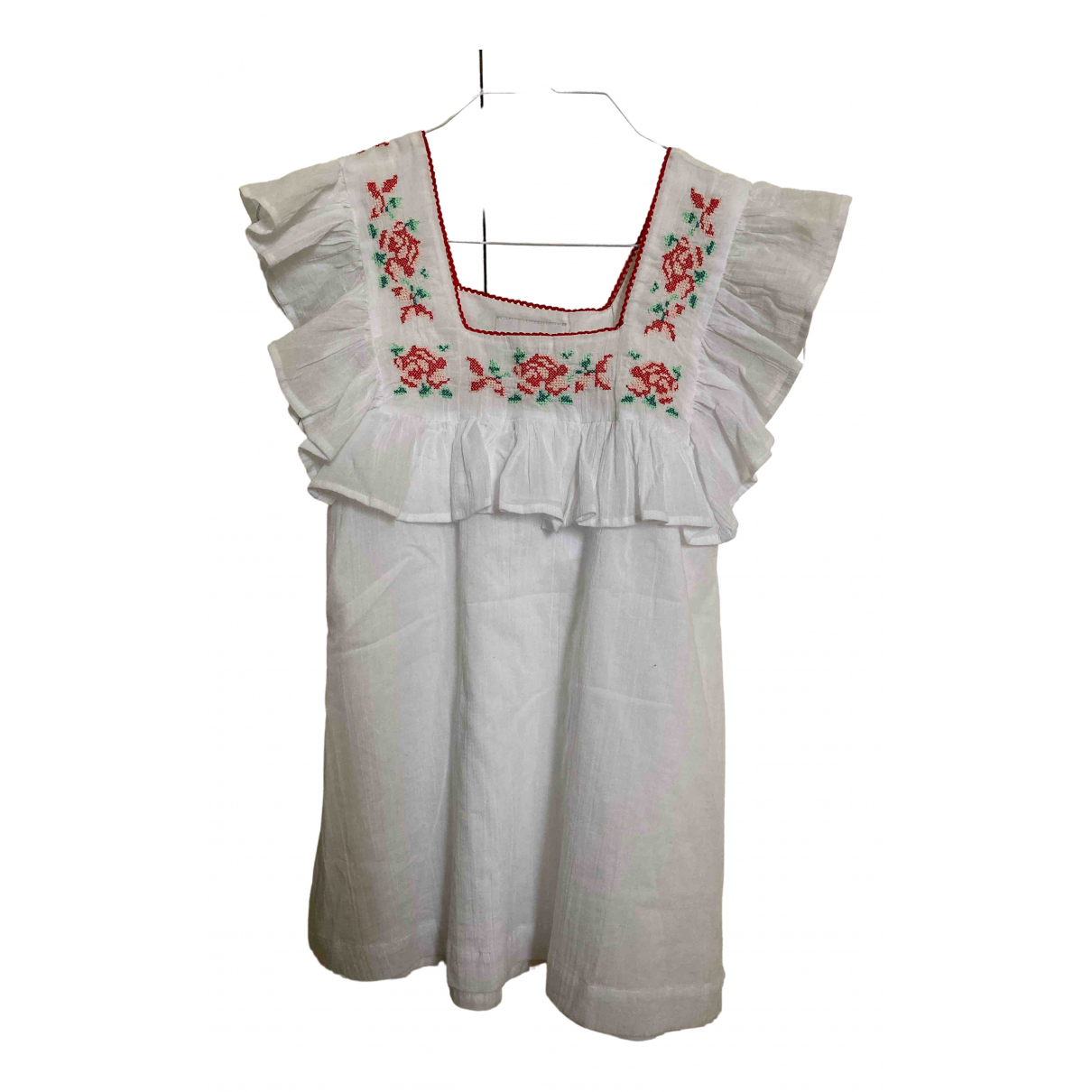 Non Signé / Unsigned \N White Cotton  top for Women 36 FR