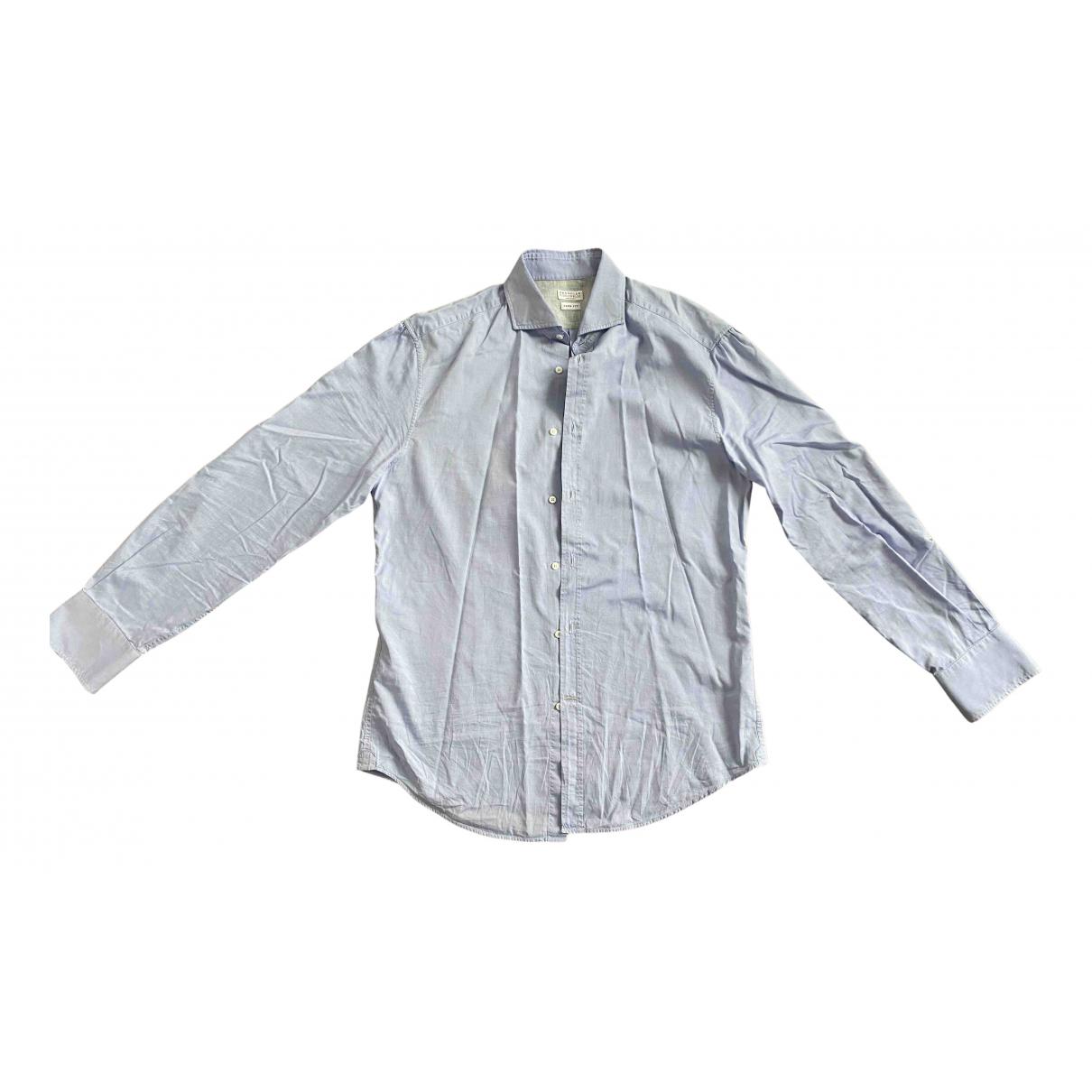 Brunello Cucinelli - Chemises   pour homme en coton - bleu