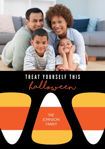 Halloween Photo Cards Flat Glossy Photo Paper Cards with Envelopes, 5x7, Card & Stationery -Yummy Sweets