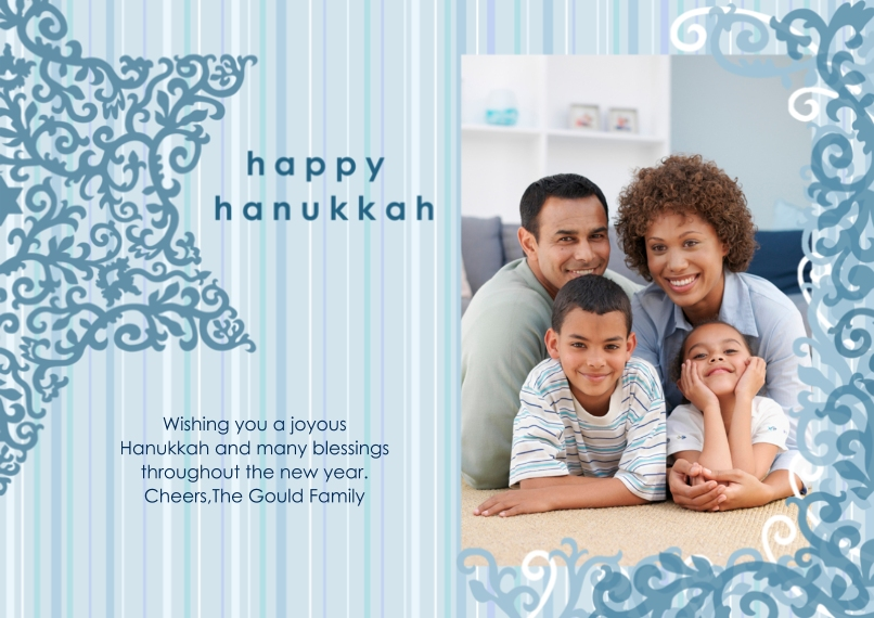 Hanukkah Photo Cards 5x7 Cards, Premium Cardstock 120lb, Card & Stationery -Happy Hanukkah