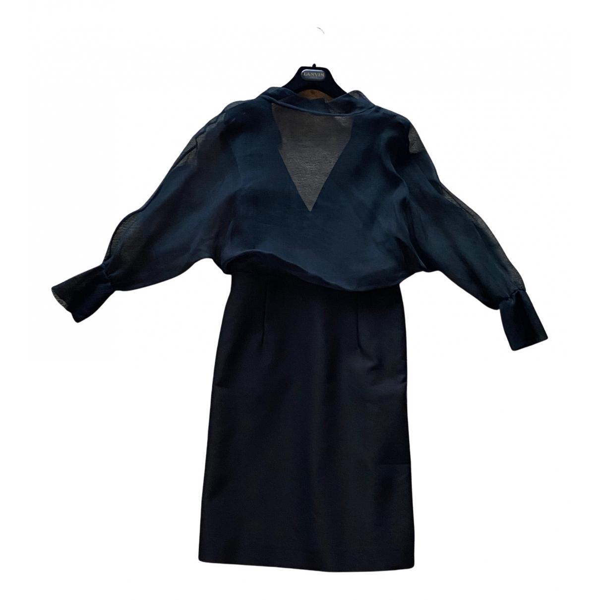Marni \N Kleid in  Schwarz Baumwolle