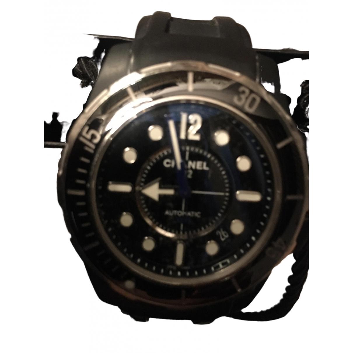 Chanel J12  Marine Uhr in  Schwarz Keramik