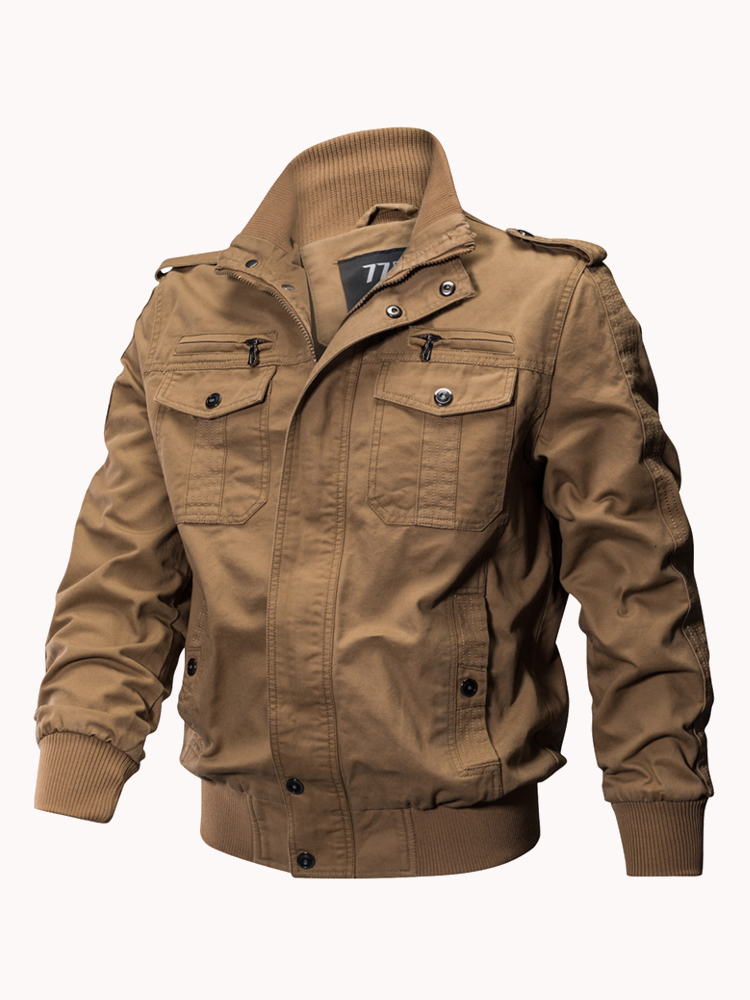 Mens Outdoor Tactical Washed Cotton Multi Pockets Casual Military Jackets