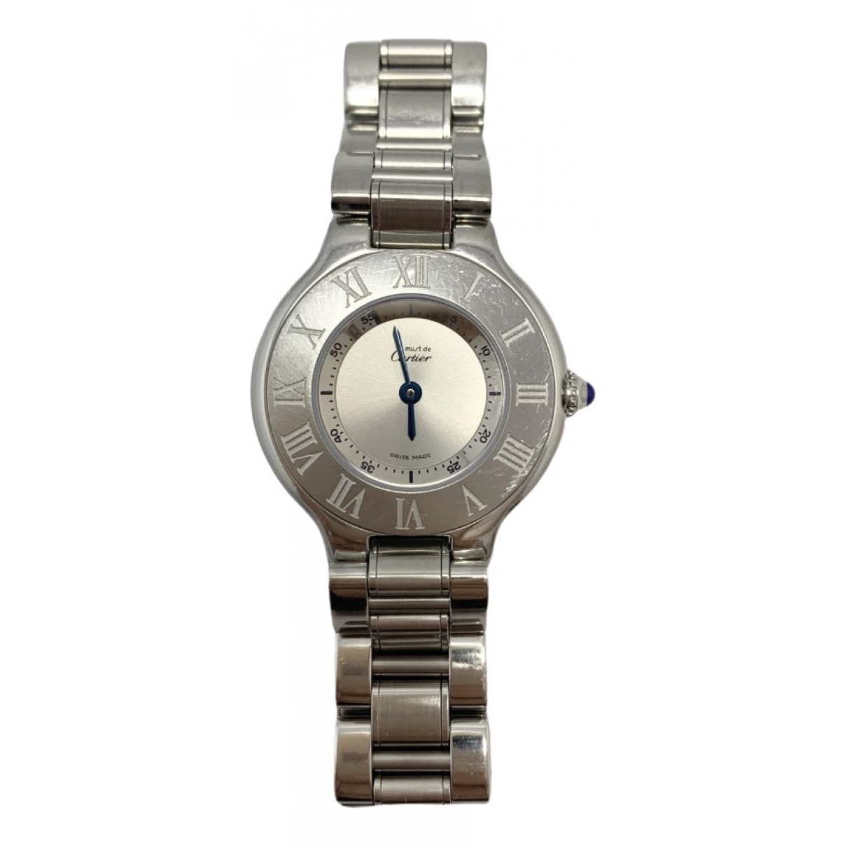 Cartier - Montre Must 21 pour femme en acier - argente