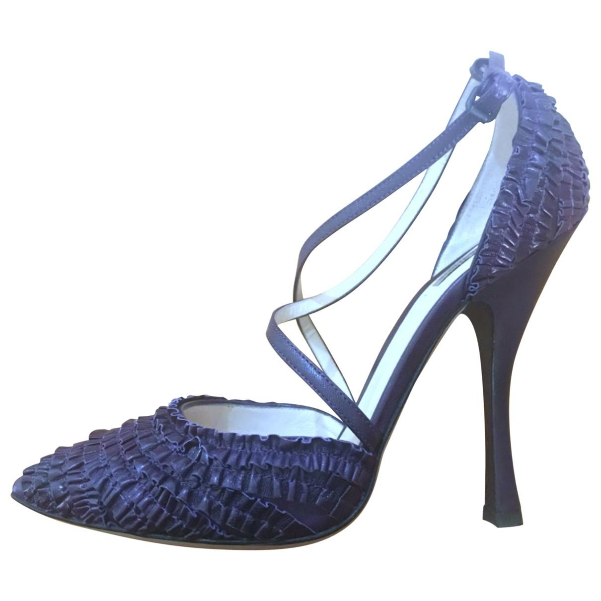 Bottega Veneta - Escarpins   pour femme en cuir - violet