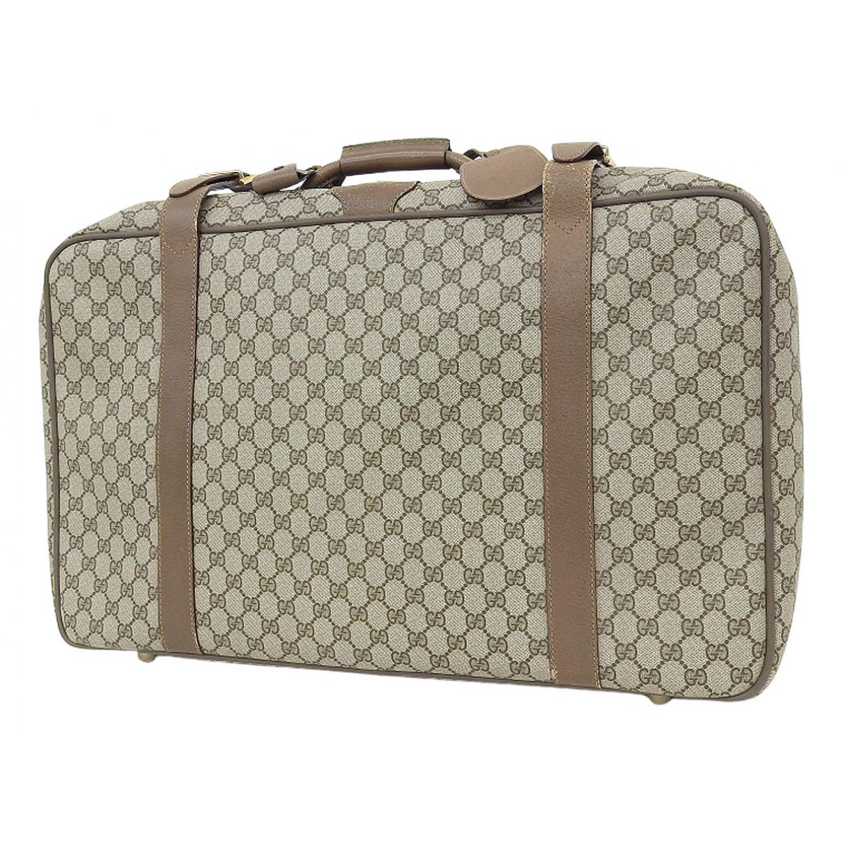 Gucci \N Reisetasche in  Beige Leinen