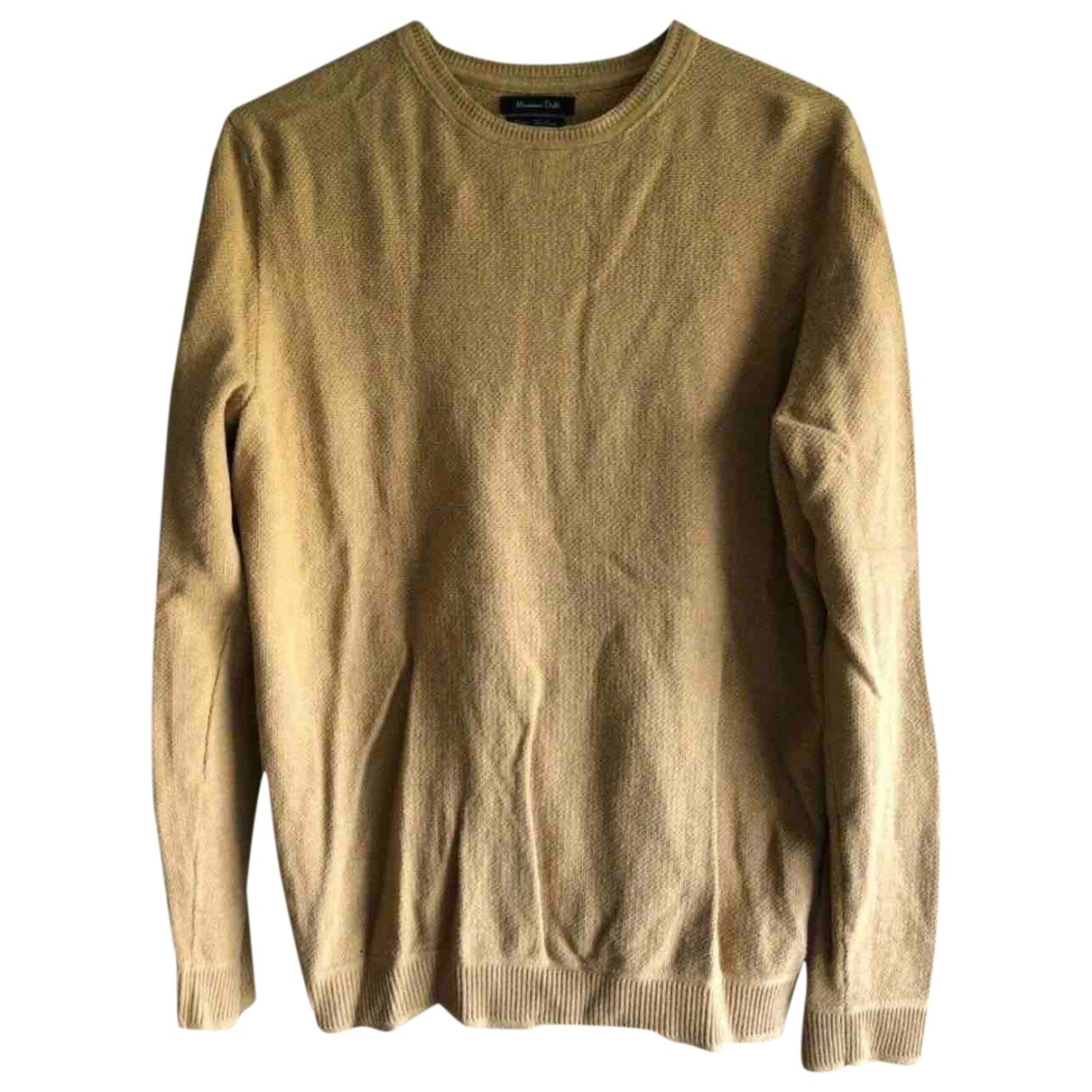 Massimo Dutti - Pulls.Gilets.Sweats   pour homme en coton - jaune
