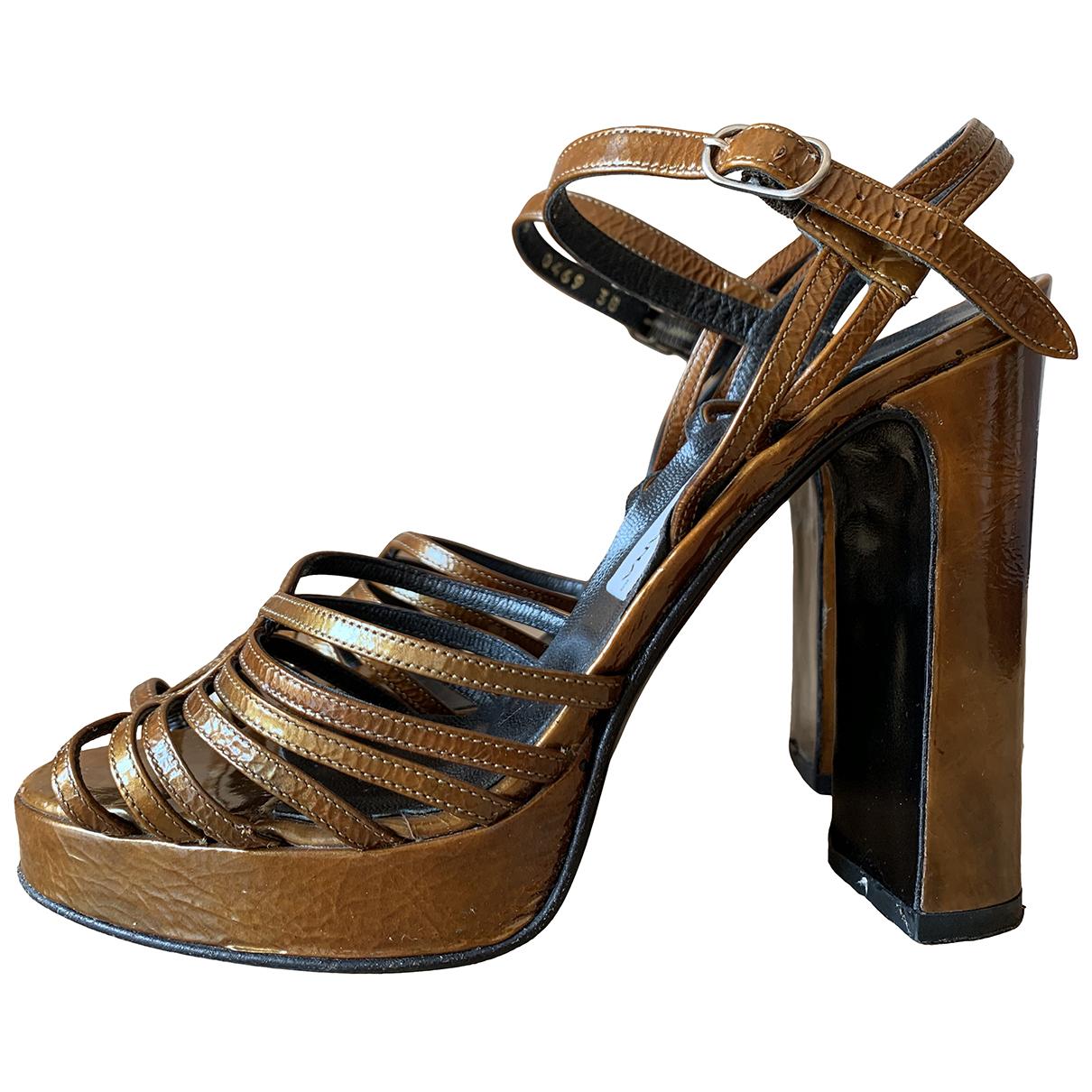 Dolce & Gabbana \N Sandalen in  Braun Leder