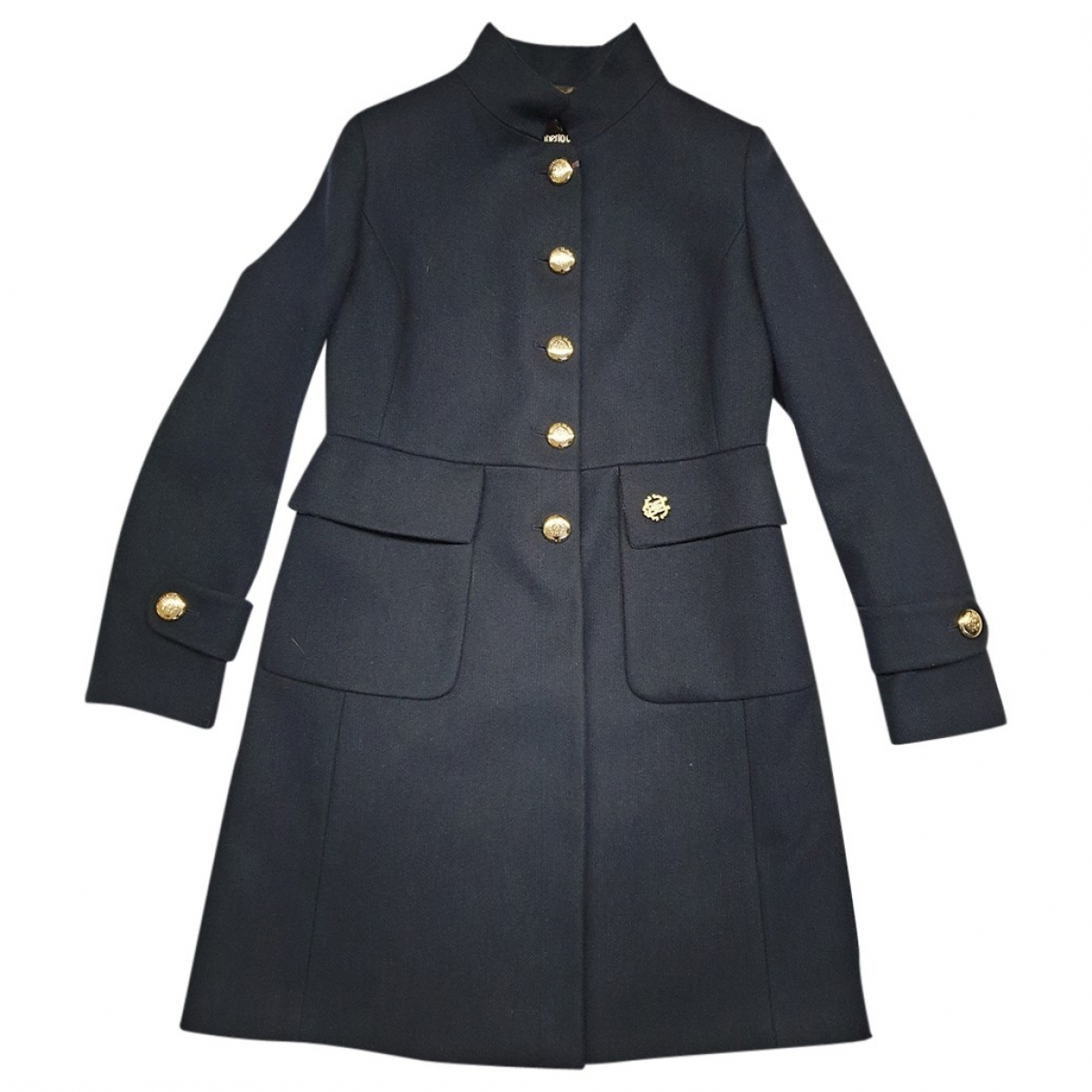 Roberto Cavalli \N Blue Wool coat for Women 44 IT