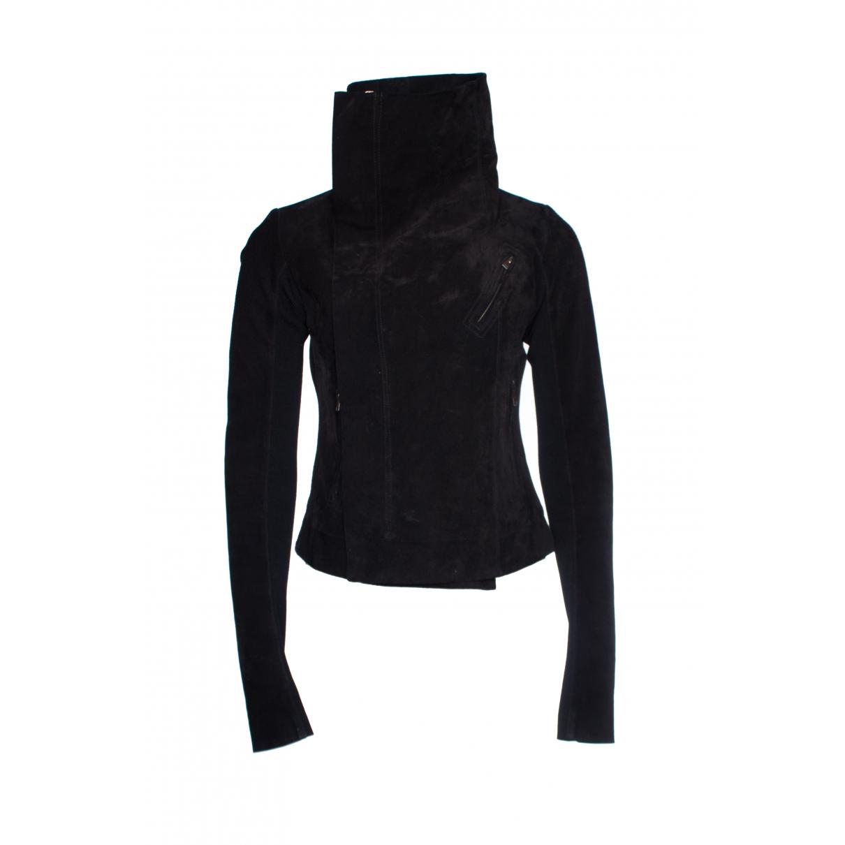 Rick Owens \N Black Suede coat for Women 42 IT