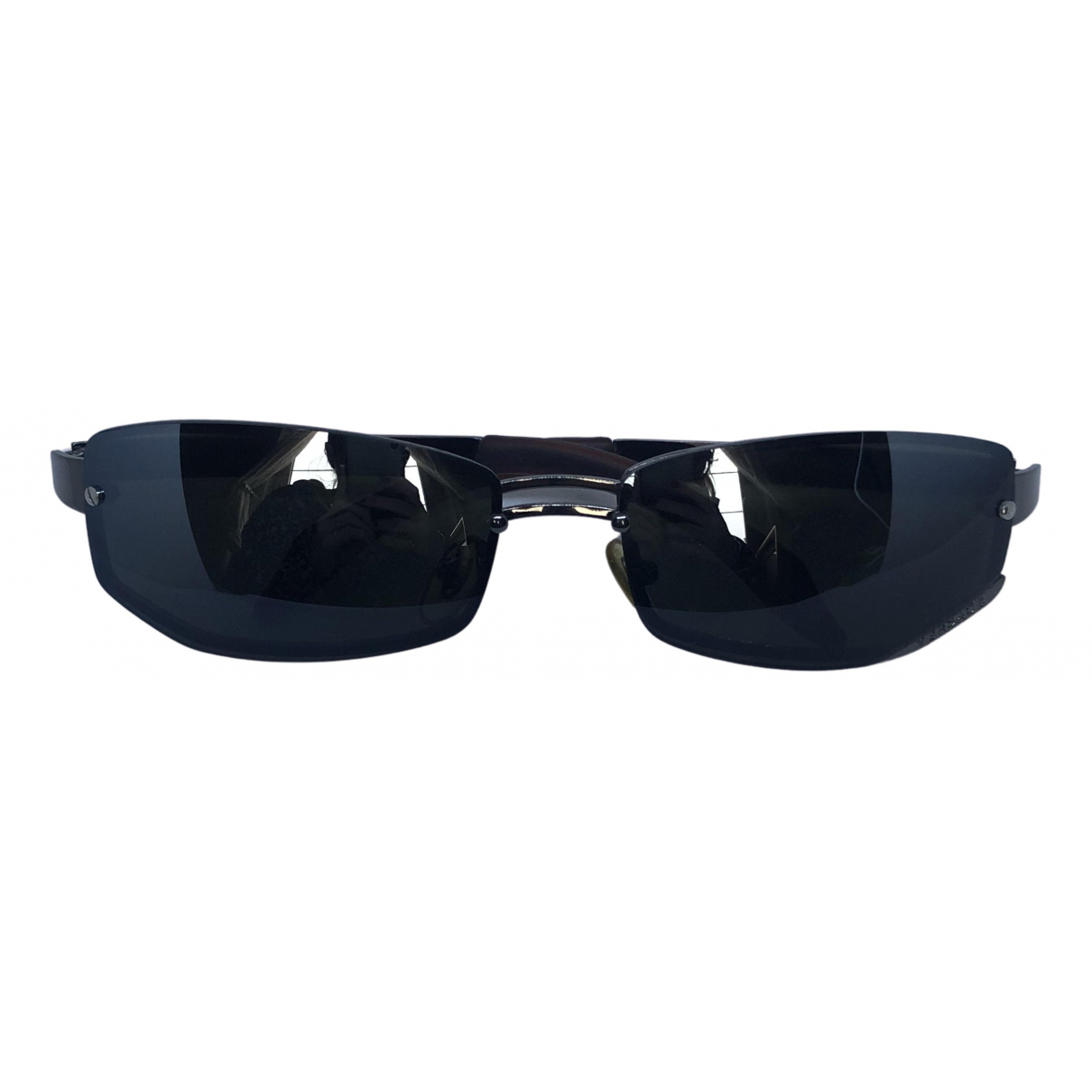 Versace \N Anthracite Metal Sunglasses for Men \N