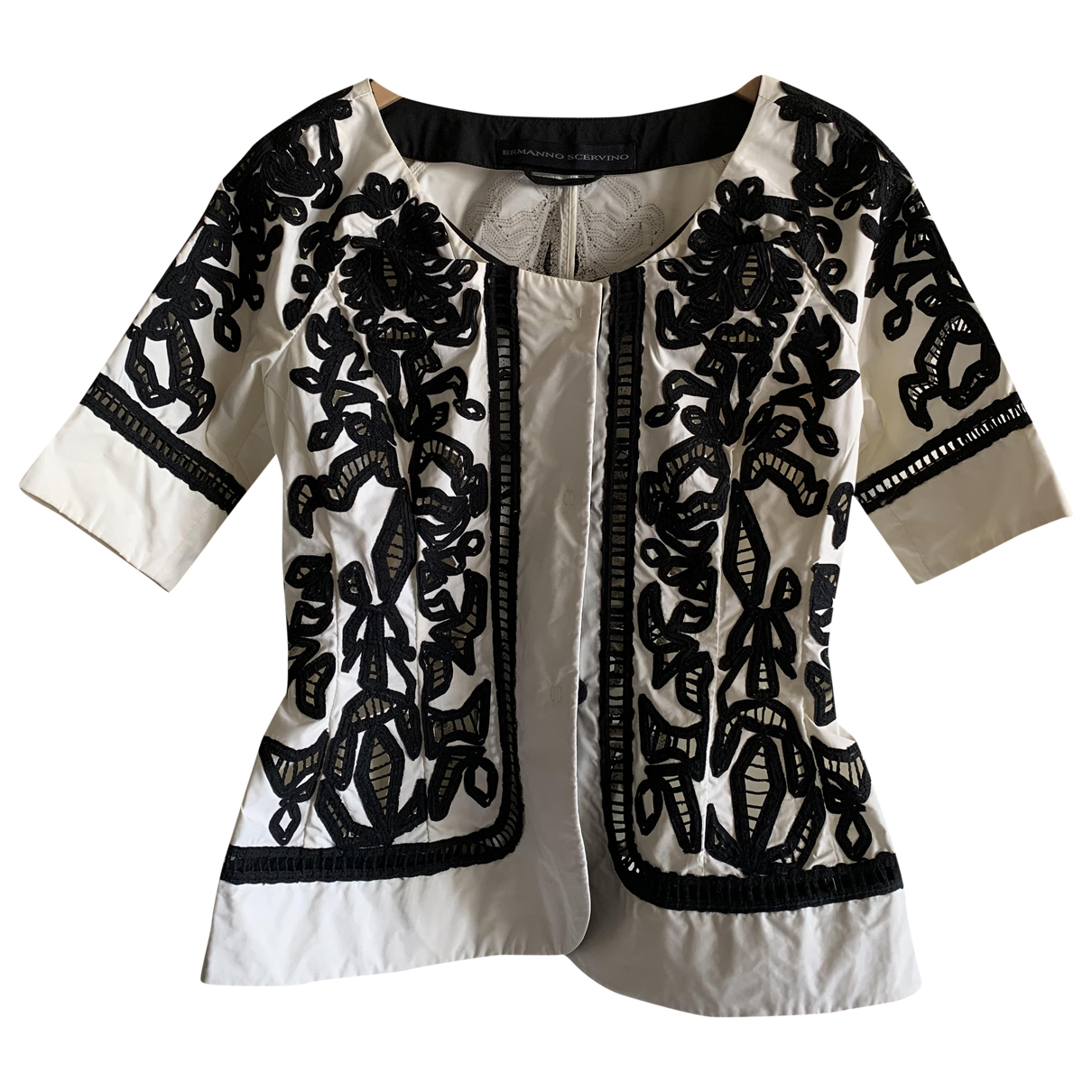 Ermanno Scervino \N Jacke in  Weiss Polyester
