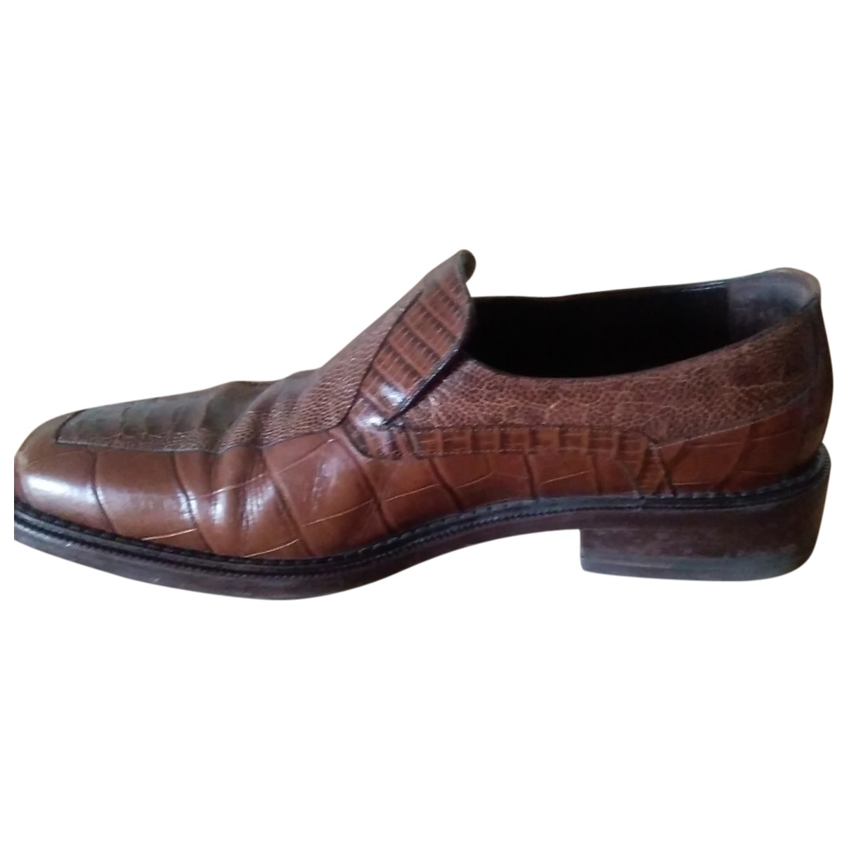Non Signé / Unsigned \N Brown Leather Flats for Men 40 EU