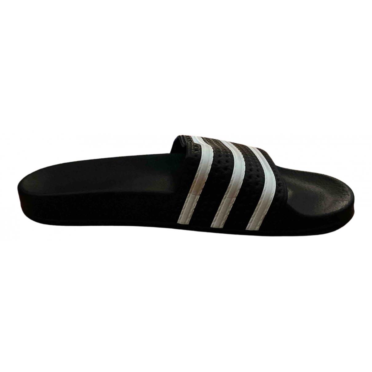 Adidas - Sandales   pour homme en caoutchouc - noir
