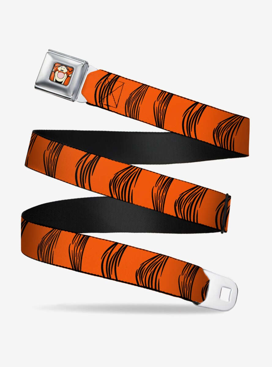 Disney Winnie The Pooh Tigger Stripes Youth Seatbelt Belt