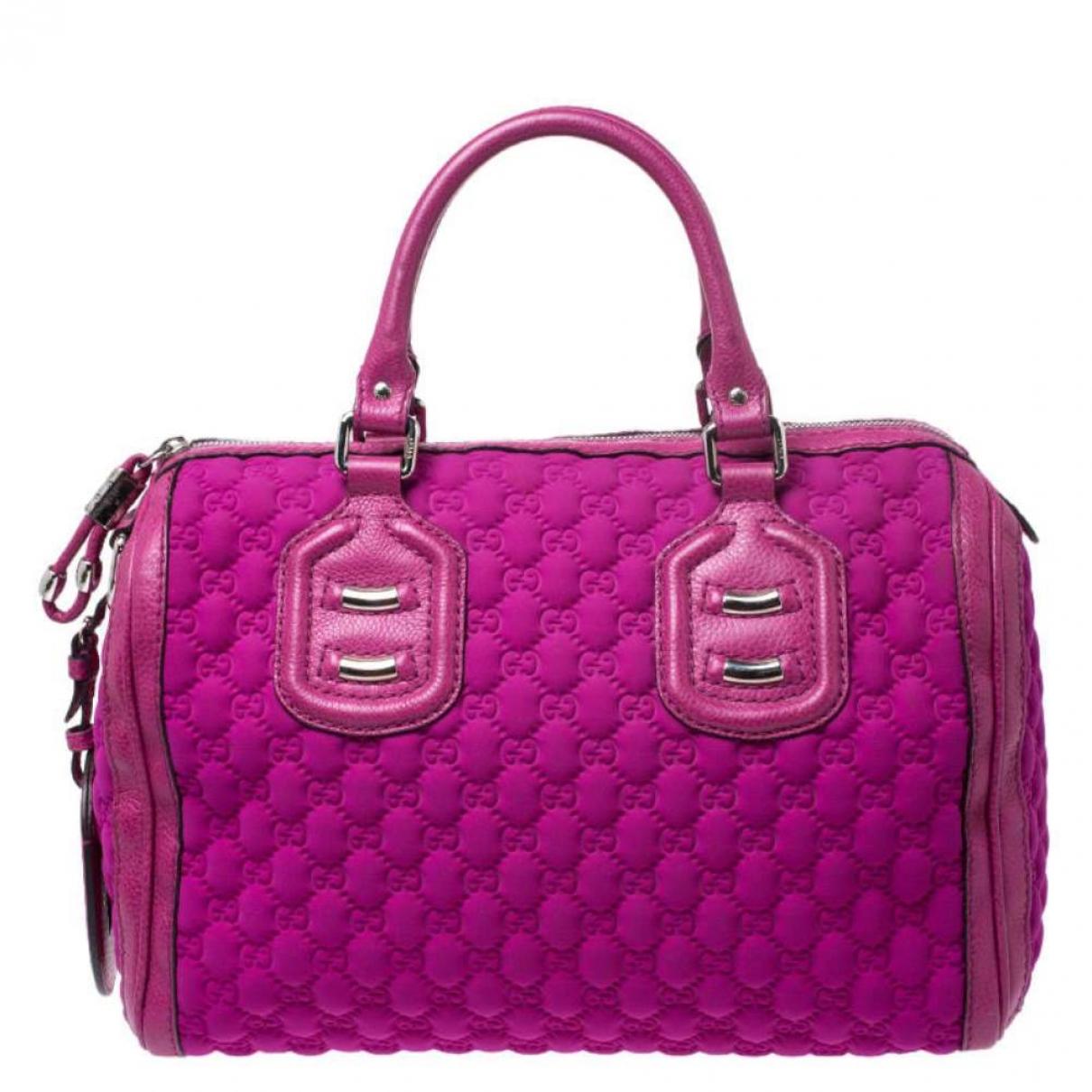 Gucci - Sac a main   pour femme en toile - rose