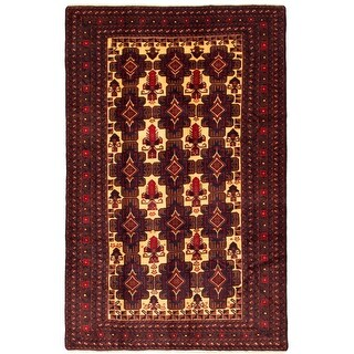 ECARPETGALLERY  Hand-knotted Rizbaft Ivory Wool Rug - 6'7 x 9'11 (Ivory - 6'7 x 9'11)