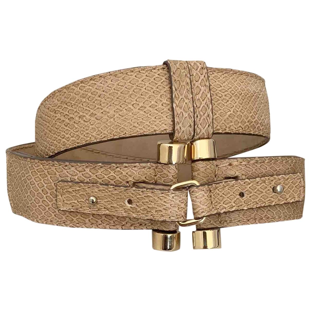 Hogan \N Camel Leather belt for Women 75 cm