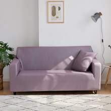 Einfarbiger dehnbarer Sofabezug ohne Kissenbezug