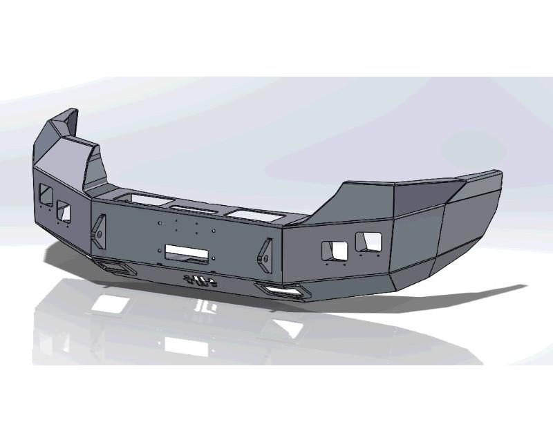 Hammerhead Armor 600-56-0732 Sierra Front Winch Bumper No Brushguard For 07-10 Sierra 2500-3500 Black Steel