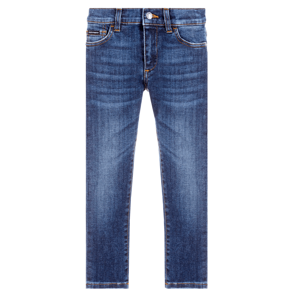 Dolce & Gabbana Kids Jeans Colour: BLUE, Size: 8 YEARS